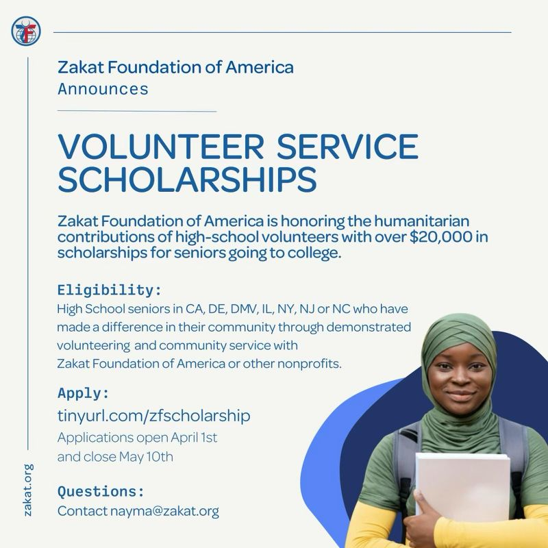 zakat foundation volunteer service scholarship